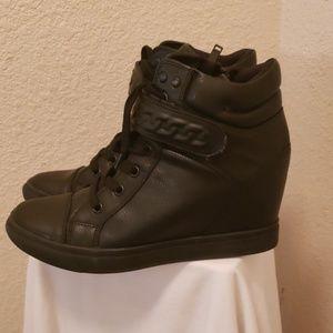 ALDO Black Wedges Ankle Strap